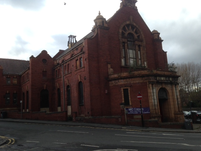 Work is about to restart on the renovation of the former Mike's Carpets building on Branch Road, Armley, following a delay. Photograph: copyright West Leeds Life