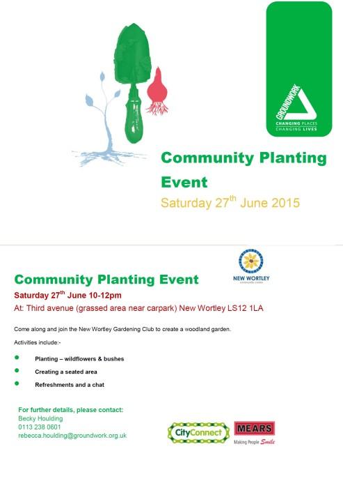 community planting event