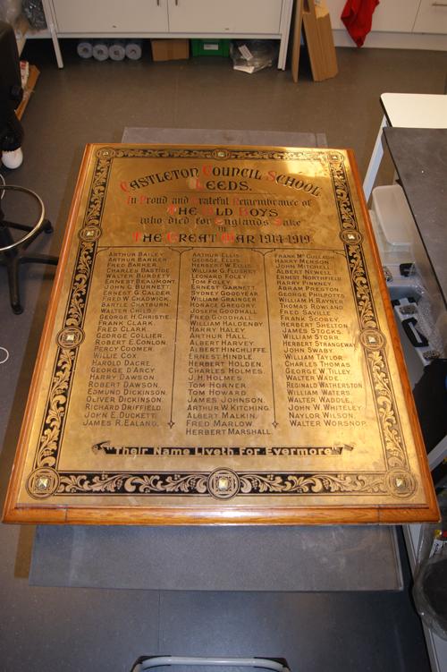 Castleton War memorial - before restoration