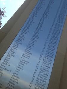 Bramley war memorial names