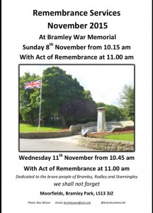 bramley remembrance services