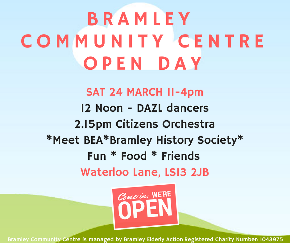 bramley community centre open day