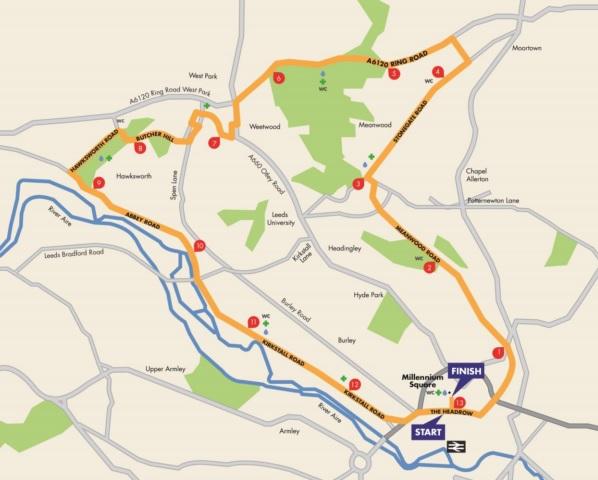 leeds half marathon road closures 2019