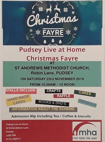 pudsey live at home christmas fayre