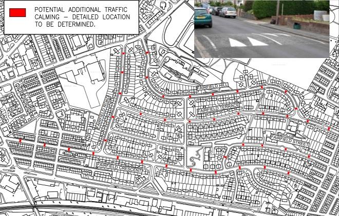 fairfields traffic calming plan