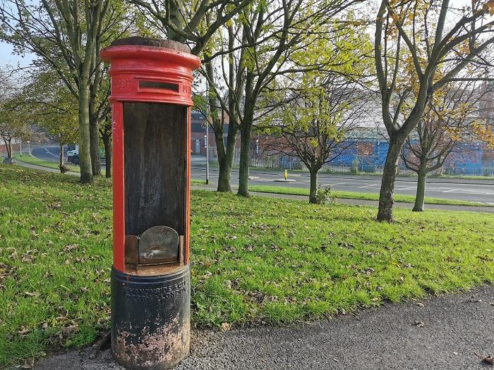 armley vandalised post box