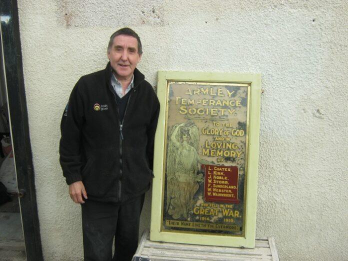 armley war memorial found