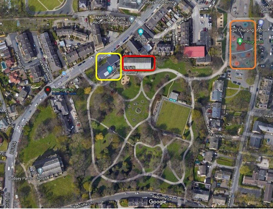 pudsey park map