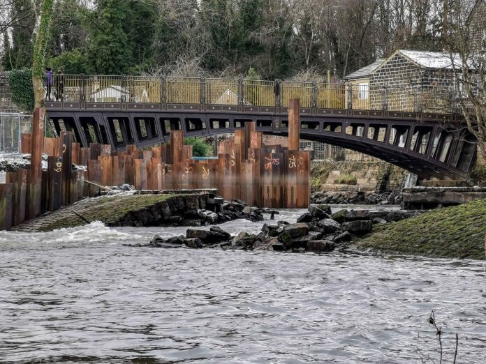 river aire newlay weir damage 1
