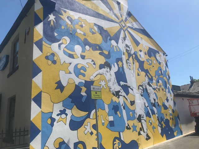 leeds united mural pudsey market 2