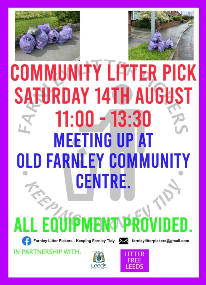 farnley community litter pick