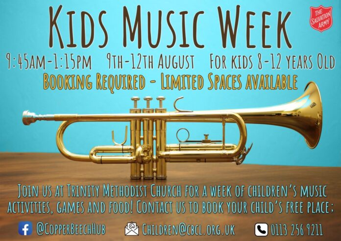 kids music week bramley salvation army
