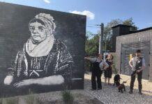 Betty Beecroft mural Kirkstall Forge